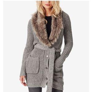 NWOT! Jessica Simpson faux fur cardigan.